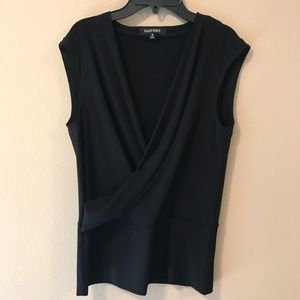 Ellen Tracy Wrap Blouse